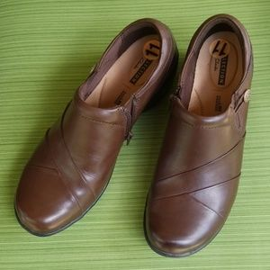 Clarks Channing Ann Leather Slip-On Loafer, Brown